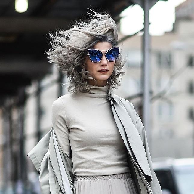 fashionable gray hair